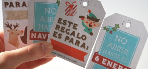 etiqueta navideña