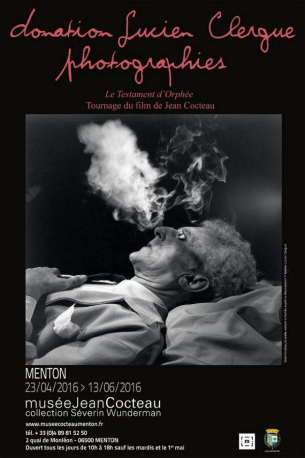 MENTON - EXPOSITION DONATION LUCIEN CLERGUE PHOTOGRAPHIES LE TESTAMENT D'ORPHEE - TOURNAGE DU FILM DE JEAN COCTEAU