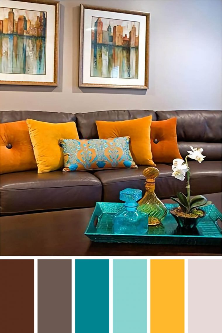 Living Room Brown Color Scheme Best Colour Scheme For Living Room With Dark Brown Sofa Living Room,Rockport Gray Complementary Colors