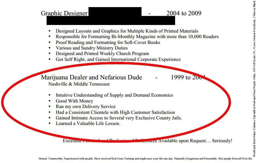 Worst Resumes Ever You didn\u0027t get the job