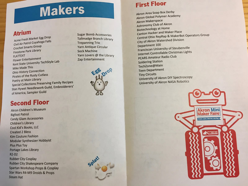 Akron Mini Maker Faire 2016 sosassociates