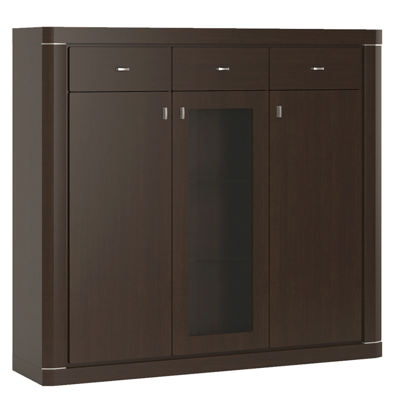 Kitchen Cabinet Doors Hull Camden 3 Door 3 Drawer Glazed Cabinet In Dark Wenge Sos