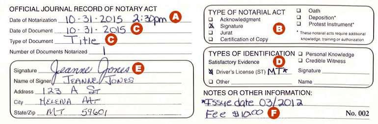 Montana Notary Journals \u2013 Montana Secretary of State \u2013 Corey Stapleton