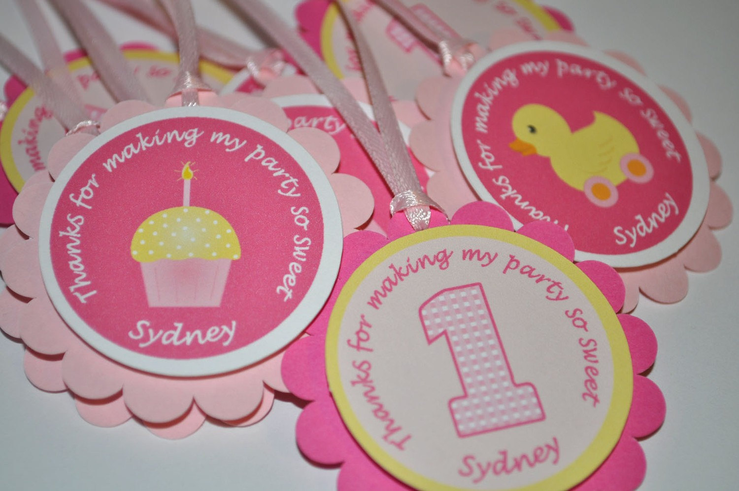 Centerpiece Sticks Cupcake Rubber Ducky Theme 1st Birthday Decorations Set Of 3