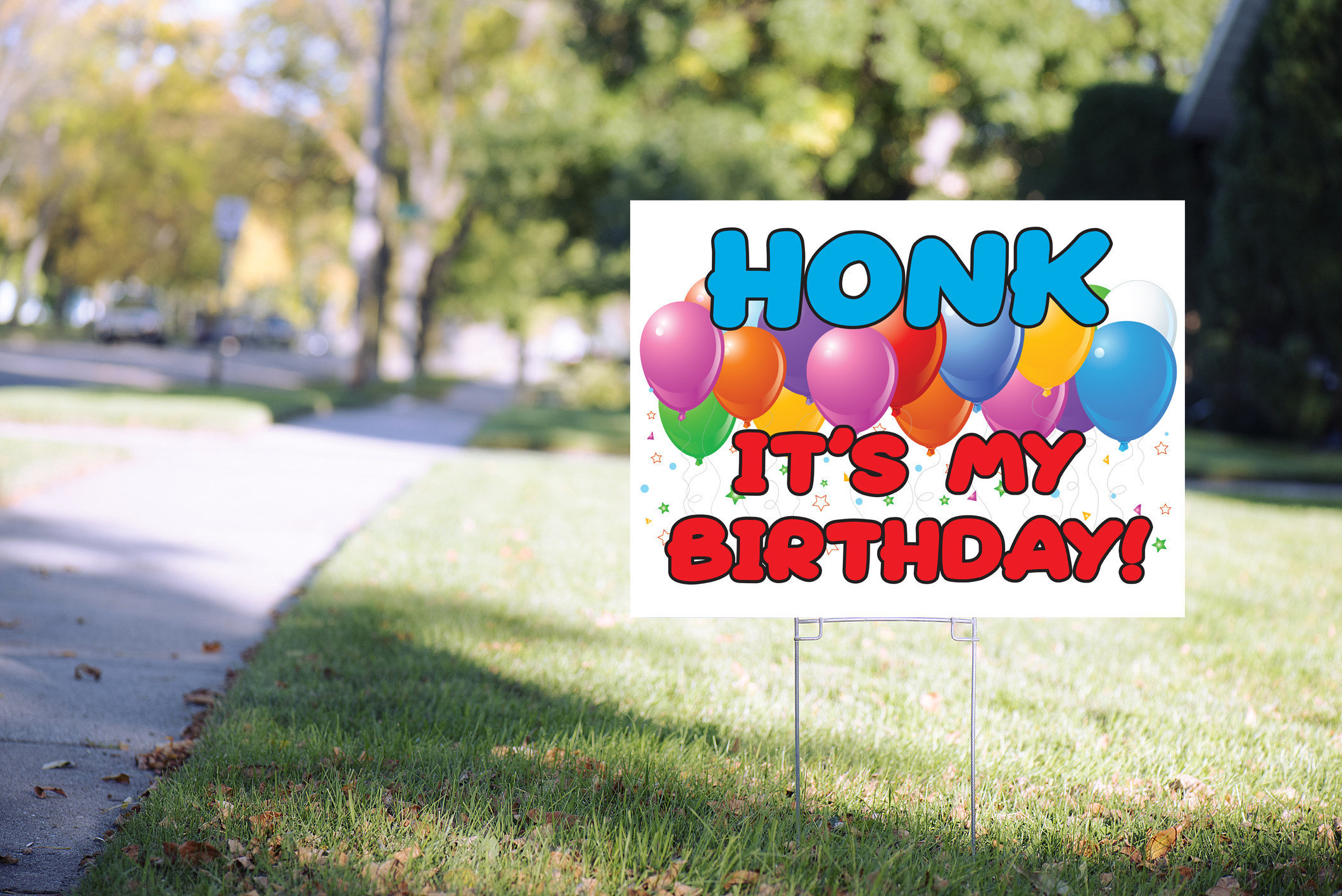 Honk Its My Birthday Yard Sign Happy Birthday Lawn Sign Virtual Birthday Party Social Distancing Quarantine Party 24