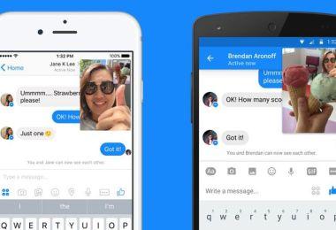 facebook canlı video görüşme messenger instant video