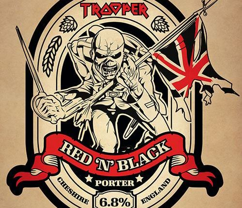 IRON MAIDEN's 'Trooper Red 'N' Black' Limited-Edition Beer Now Available