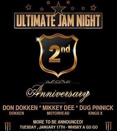 """DOKKEN, SCORPIONS, KING'S X, BULLETBOYS Members Perform At 'Ultimate Jam Night""""s Second-Anniversary Party"""