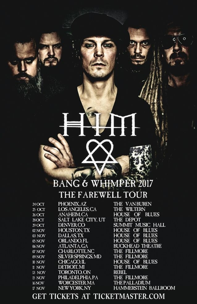 HIM Announces North American Leg Of Farewell Tour; Special BLABBERMOUTH.NET Presale Available