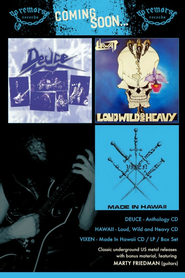 MARTY FRIEDMAN's HAWAII, VIXEN And DEUCE Albums To Be Reissued