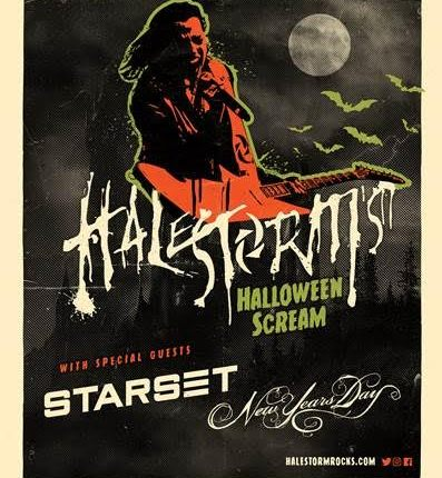 HALESTORM Announces 'Halestorm's Halloween Scream' Tour With STARSET And NEW YEARS DAY