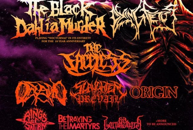 THE BLACK DAHLIA MURDER And DYING FETUS To Headline 'The Summer Slaughter Tour'