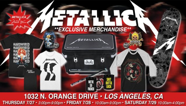 METALLICA: Video Tour Of Los Angeles Pop-Up Store
