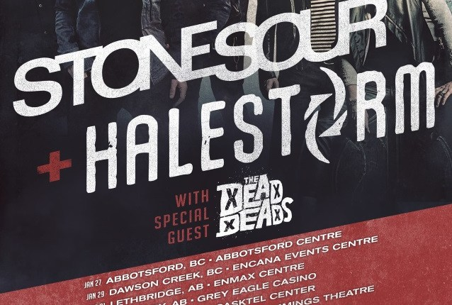STONE SOUR Announces North American Co-Headlining Tour With HALESTORM; BLABBERMOUTH.NET Presale Available