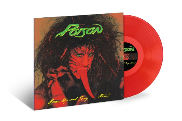 POISON: 30th-Anniversary 180-Gram Red-Vinyl Reissue Of 'Open Up And Say… Ahh!'