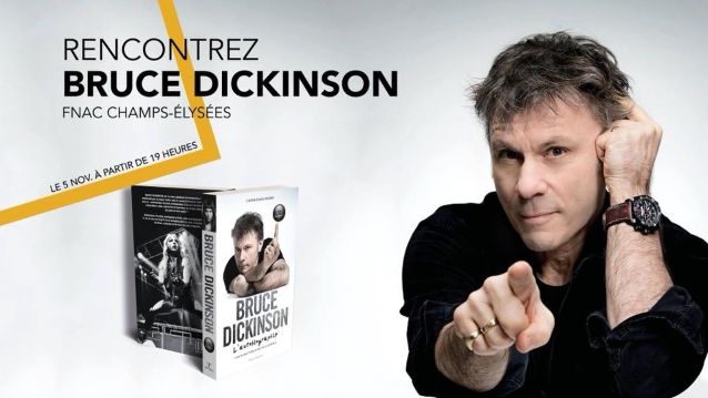 IRON MAIDEN's BRUCE DICKINSON Signs Copies Of Autobiography In Paris (Video)