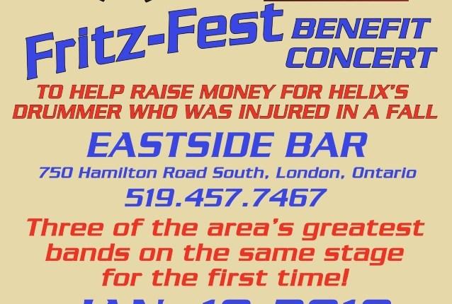 HELIX: Benefit Concert For Drummer GREG 'FRITZ' HINZ To Be Held In January