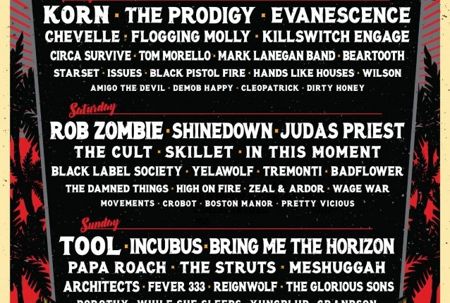 TOOL, KORN, ROB ZOMBIE, JUDAS PRIEST Set For Next Year's WELCOME TO ROCKVILLE Festival