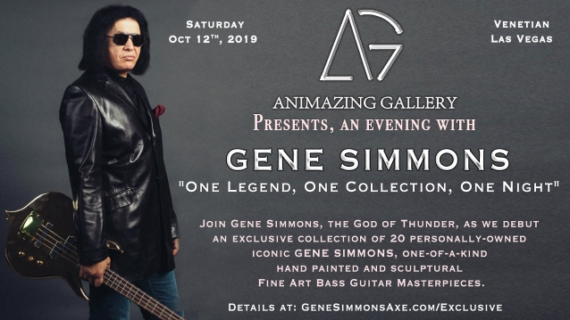 GENE SIMMONS To Host Gallery Showing Of Custom Bass Guitars