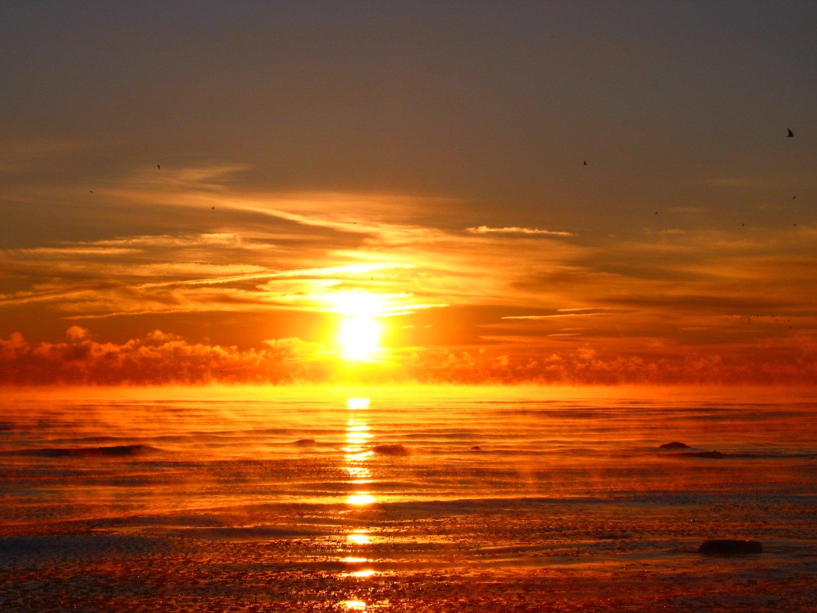 Florida Beach Fall Wallpaper Soul Amp Misty Lake Michigan Sunrise A New Day