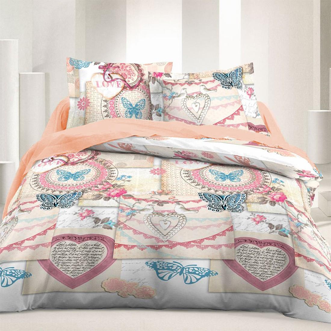 Splendent Vintage Love Cotton Bed Linen Set Cover Pillow Home Textile Quality Duvet Pillow Vintage Love Cotton Bed Linen Set Cover Pillow Cases What Is A Cotton Duvet Cover What Is A Duvet Cover Linen houzz-02 What Is A Duvet Covers