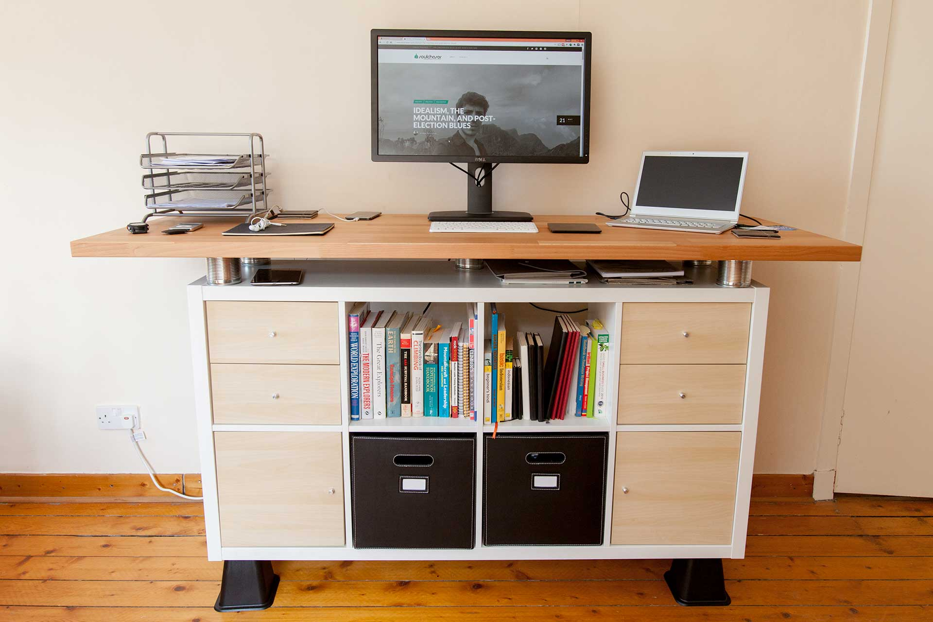 Bureau Expedit My Awesome Standing Desk Ikea Hack - Soulchaser
