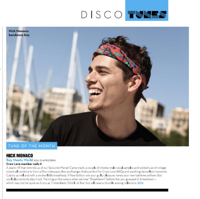 Nick Monaco in Mixmag December 13