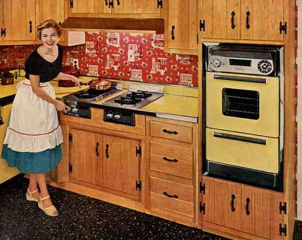 Diy creating character with vintage wall ovens soulful for 50 s style kitchen designs