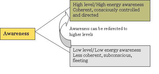 The diagram above shows the 2 basic levels of awareness