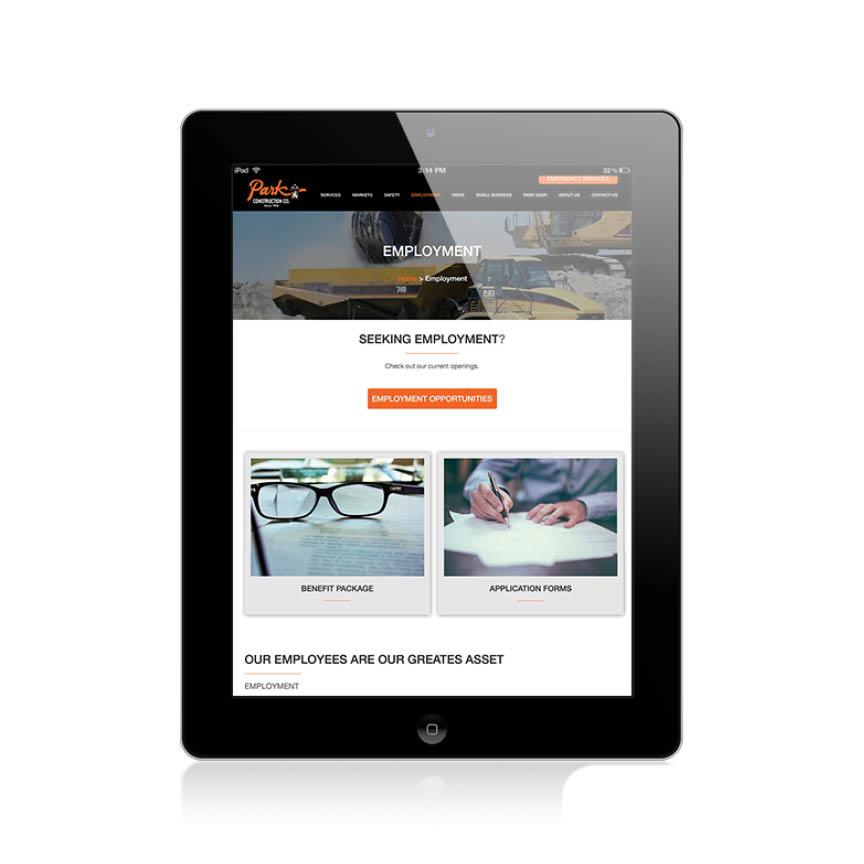 PARK CONSTRUCTION COMPANY \u2013 NEW WEBSITE DESIGN AND DEVELOPMENT