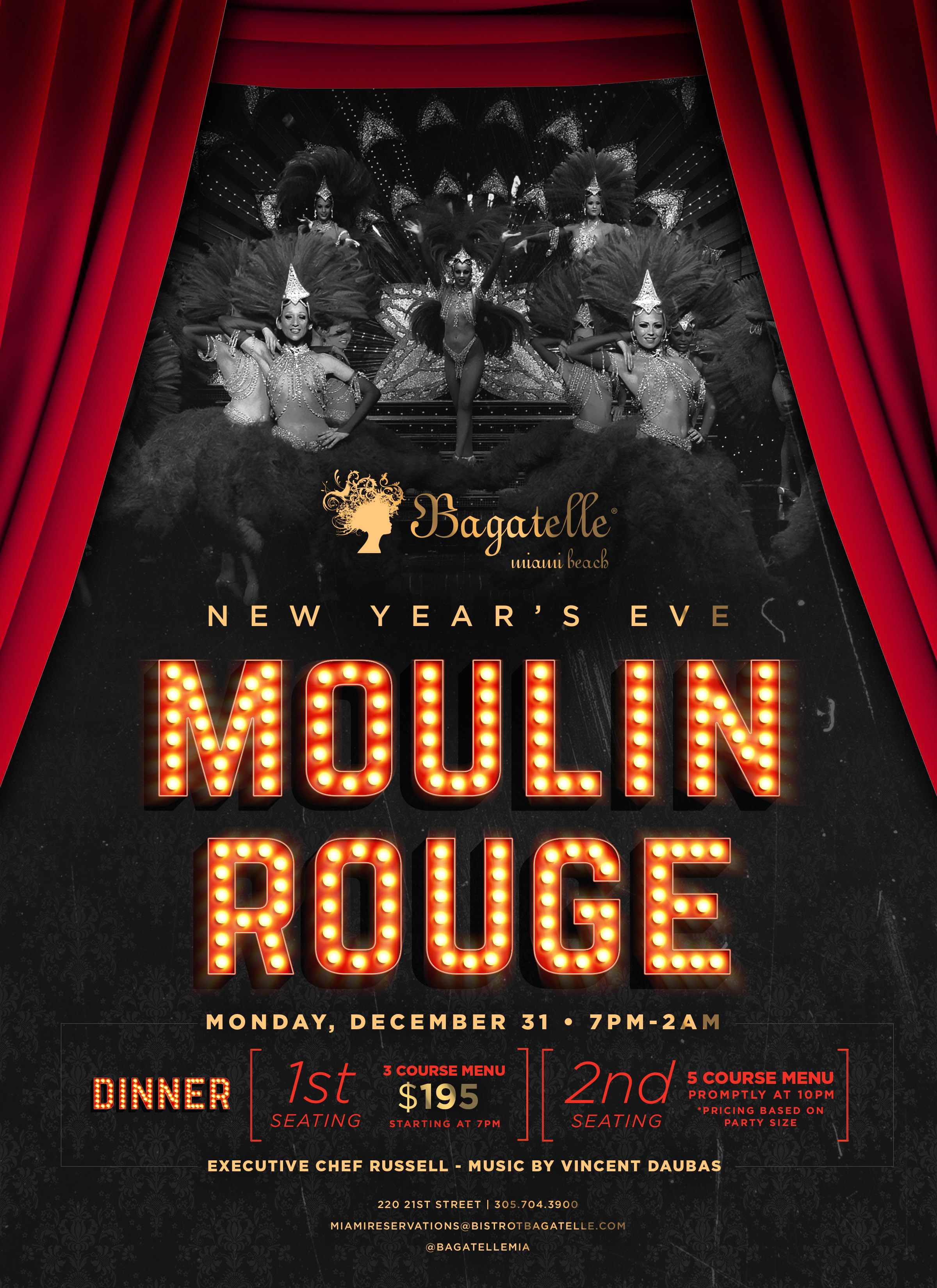 Valentino Cucina Italiana Menu Prices New Year S Eve Moulin Rouge 12 31 18 The Soul Of Miami