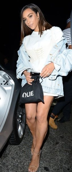 Kim Kardashian attends Kylie Jenner's birthday party at The Nice Guy in West Hollywood