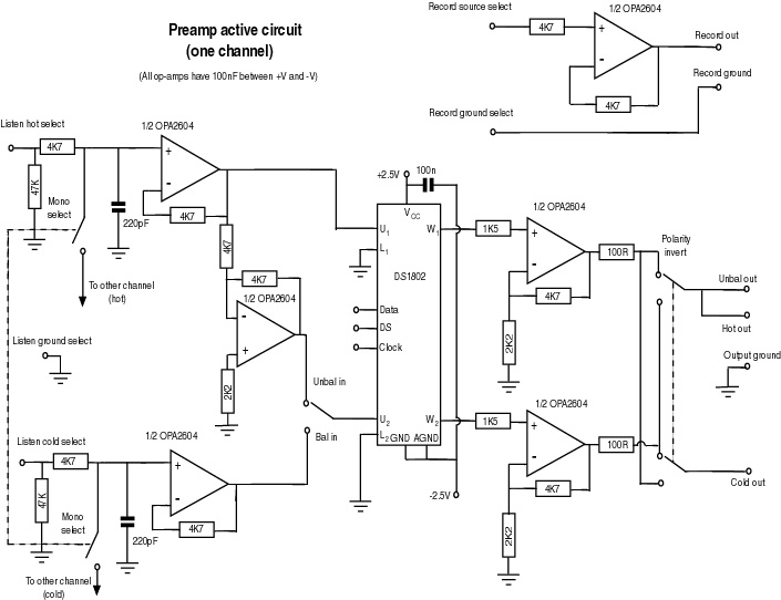 remotecontrolled preamplifier project part two design details