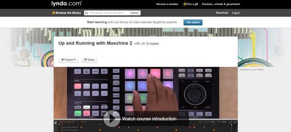 Checkout My New Maschine Training Course with Lynda.com