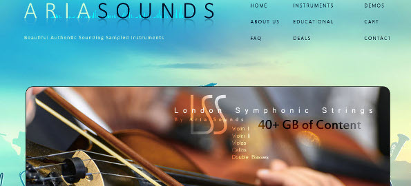 Aria Sounds London Symphonic Strings Library Demo