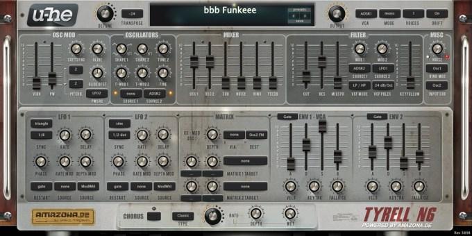 Friday Freebie: u-he Tyrell N6 synthesizer plugin