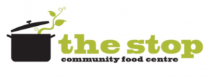 logo of the Stop: a cooking pot with leaves growing towards the words the stop community food centre