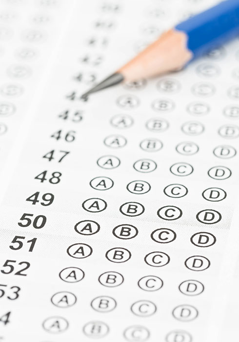 For better multiple-choice tests, avoid tricky questions, study