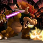 It's a new character, Bowser! He's holding a Beam Sword.