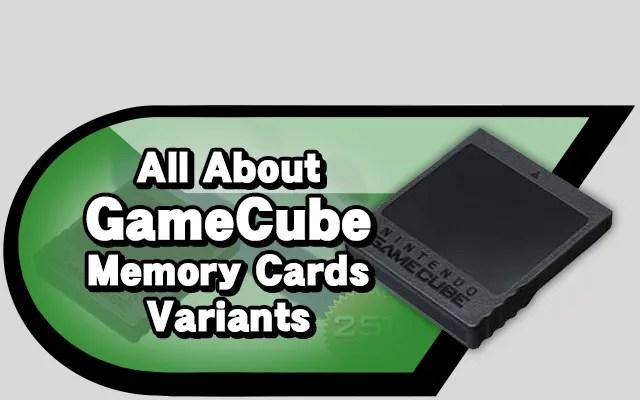 gameCube Memory Cards