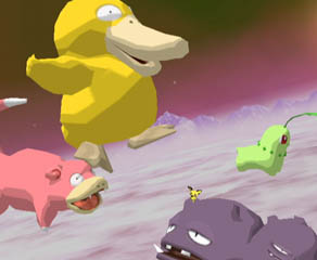 One Pokémon, four Pokéfloats.
