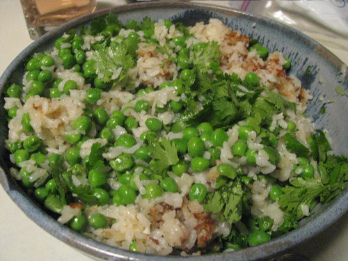 Recipe: Cilantro Rice with Peas