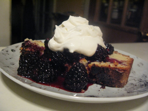 Pastel Vasco with Blackberry Compote