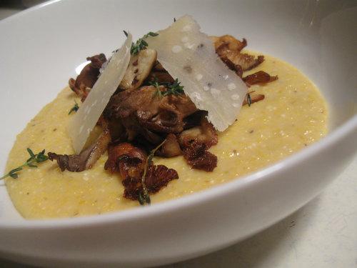 Saturday Night Supper: Polenta and Roasted Mushrooms