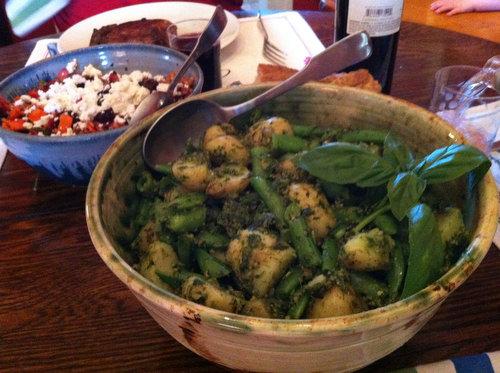 Potato and Snap Pea Salad with Garlic and Parsley Lemon Pesto
