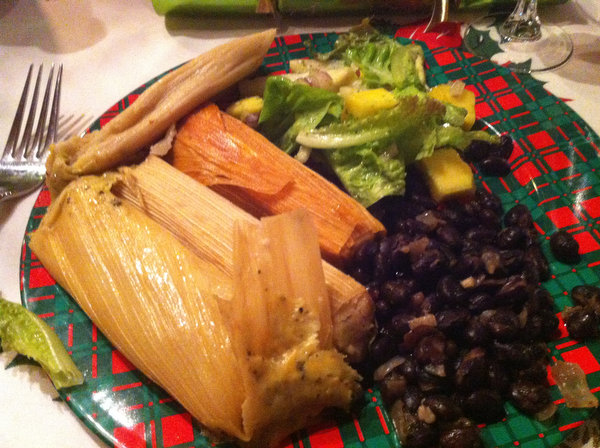 Tamales at the Ranch for Christmas Dinner 2012