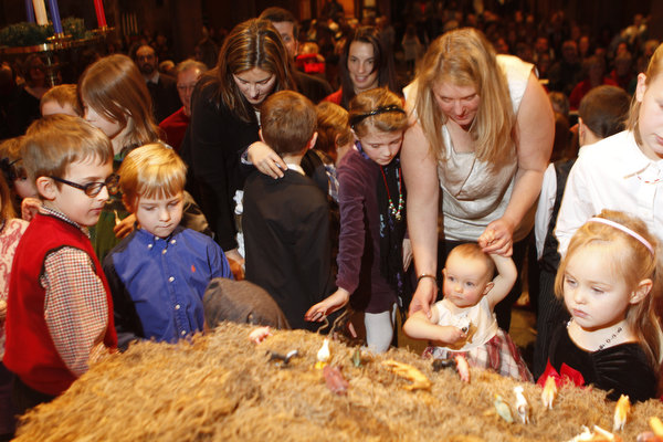 Samantha at the manger