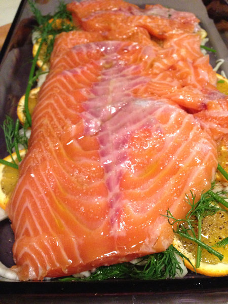 Slow-Roasted Salmon with Fennel and Oranges
