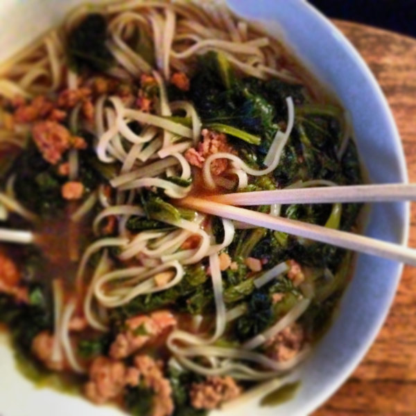 Spicy Pork Soup with Mustard Greens
