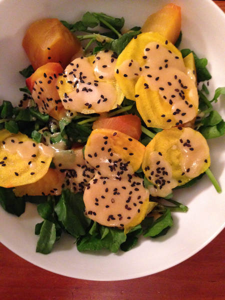 Beet Salad with Miso Dressing